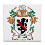 Burnell Coat of Arms Tile Coaster