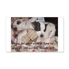 Snuggler not a fighter Wall Decal