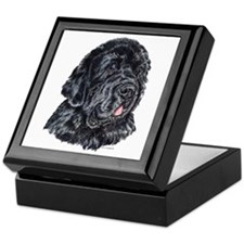 Newfoundland Dog Portrait Keepsake Box