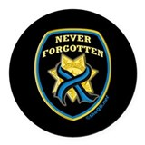 Fallen officers Round Car Magnets