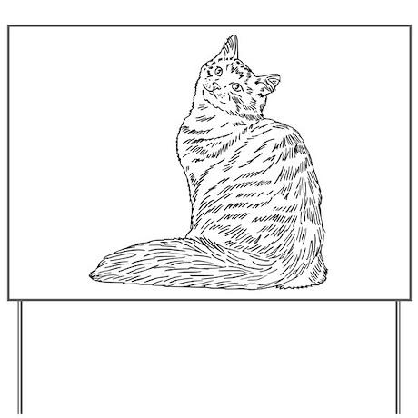 SIBERIAN CAT Yard Sign