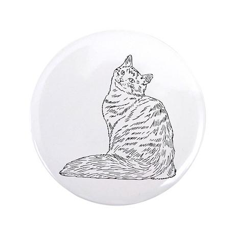 "SIBERIAN CAT 3.5"" Button (100 pack)"