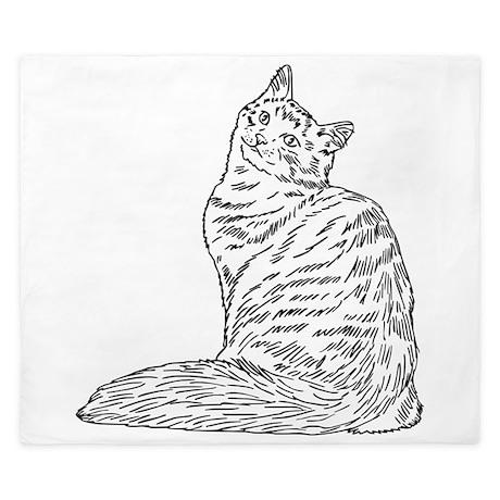 SIBERIAN CAT King Duvet