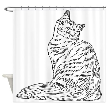SIBERIAN CAT Shower Curtain