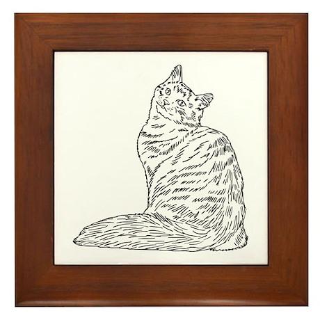 SIBERIAN CAT Framed Tile