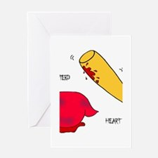 Battered Heart.png Greeting Card