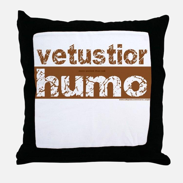 Older Than Dirt (Latin) Throw Pillow