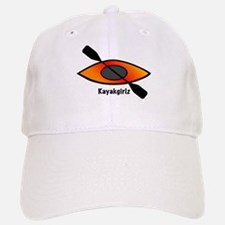 Kayakgirlz Orange Kayak Baseball Baseball Cap