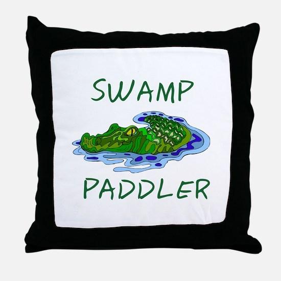Swamp Paddler Throw Pillow