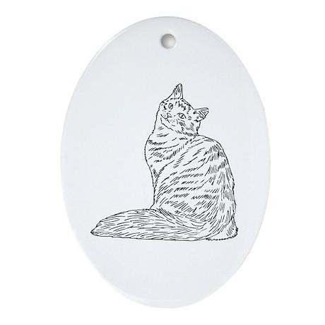 SIBERIAN CAT Ornament (Oval)