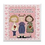 Friends Fit Together Keepsake Tile Coaster