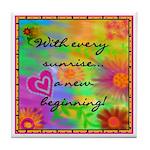 A New Beginning Tile Coaster