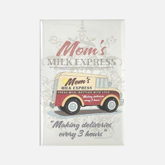 MM Moms Milk Express Rectangle Magnet