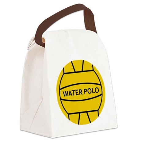 Water Polo Ball Canvas Lunch Bag