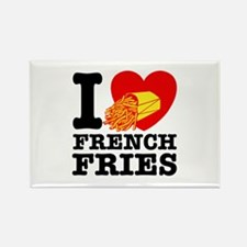 I Love French Fries Rectangle Magnet