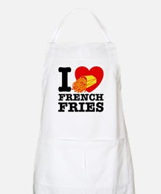 I Love French Fries BBQ Apron