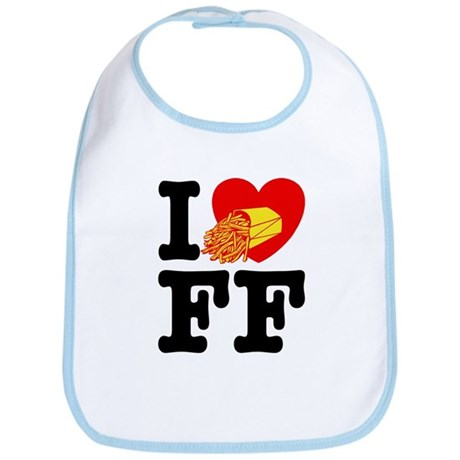 I Love French Fries Bib