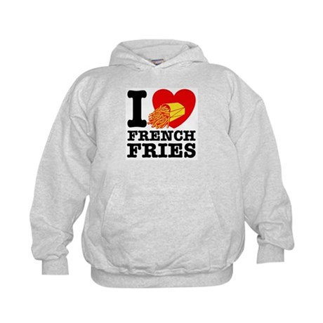 I Love French Fries Kids Hoodie