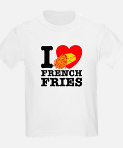 I Love French Fries Kids T-Shirt