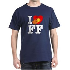 I Love French Fries Black T-Shirt