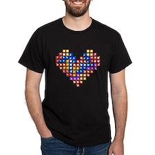 Tetris Love Black T-Shirt