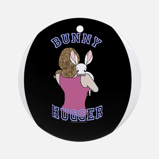 Bunny Hugger.png Ornament (Round)