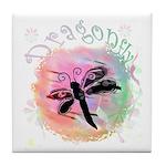Summer Dragonfly Tile Coaster