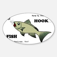 Hang Up Your Hook.png Sticker (Oval)