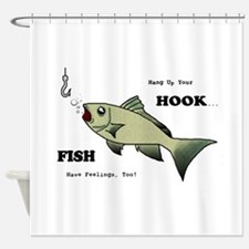 Hang Up Your Hook.png Shower Curtain