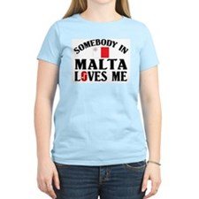 Somebody In Malta Women's Pink T-Shirt