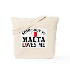 Somebody In Malta Tote Bag