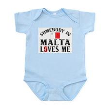 Somebody In Malta Infant Creeper