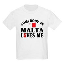 Somebody In Malta Kids T-Shirt