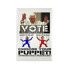 Vatican Puppets Romney vs Obama Rectangle Magnet