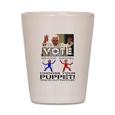Vatican Puppets Romney vs Obama Shot Glass