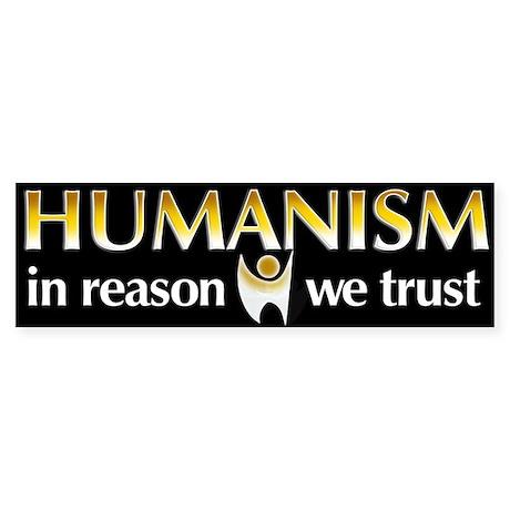 In Reason We Trust Bumper Sticker