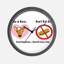 3-Be a Hero.png Wall Clock