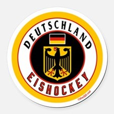 Germany Hockey(Deutschland) Round Car Magnet