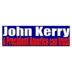John Kerry - Trust Bumper Bumper Sticker
