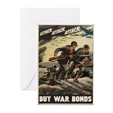 Unique World war 2 Greeting Cards (Pk of 10)