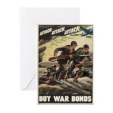 Cute World war 2 Greeting Cards (Pk of 10)