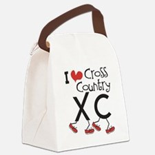 I heart Cross Country Running Canvas Lunch Bag