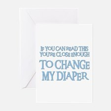 CHANGE MY DIAPER Greeting Cards (Pk of 10)