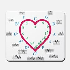 The Heart of Fifths Mousepad