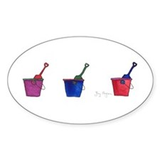 Buckets & Shovels Oval Decal