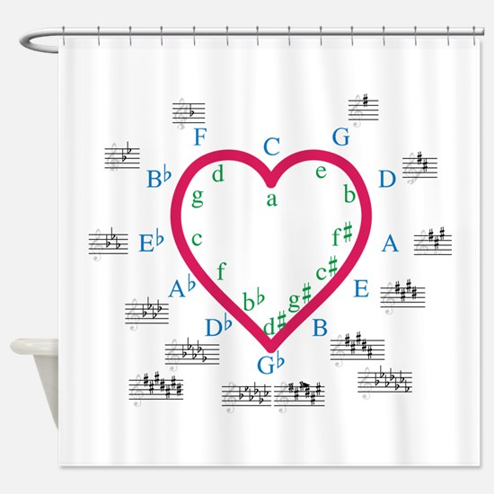 The Heart of Fifths Shower Curtain