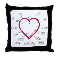 The Heart of Fifths Throw Pillow
