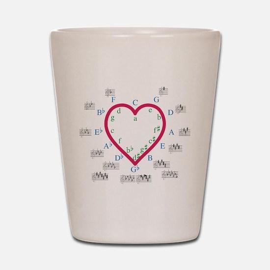 The Heart of Fifths Shot Glass