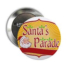 """Santa Claus Christmas Parade Retro 2.25"""" Button"""
