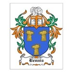 Bennis Coat of Arms Small Poster